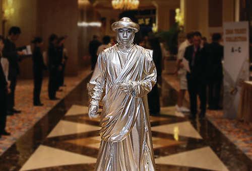 澳门威尼斯人真人雕塑